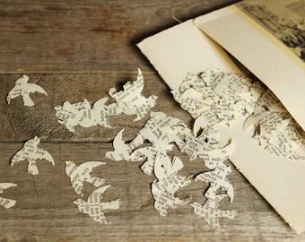 Confetti, Paper Confetti, Wedding Decoration, Bird Confetti, Book Page Confetti, Table Scatters, Package of 200