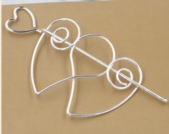 3 pcs iron  plated silver  hair pin