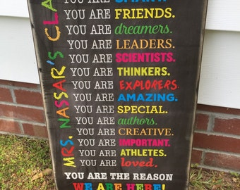 16x24 Personalized Teacher Sign