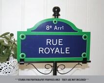 Customizable Paris Street Sign Table Numbers