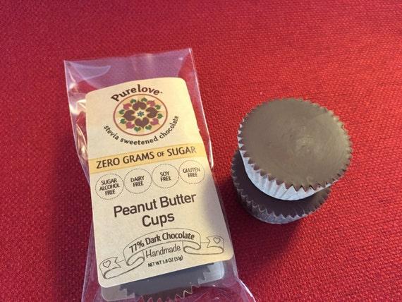 Vegan Zero Sugar Peanut Butter Cups: Low Carb & Stevia Sweetened