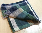 Handwoven Wool Blanket Scarf Shawl No. 2.1