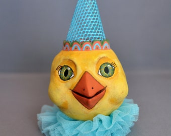 Easter Chick with Party Hat