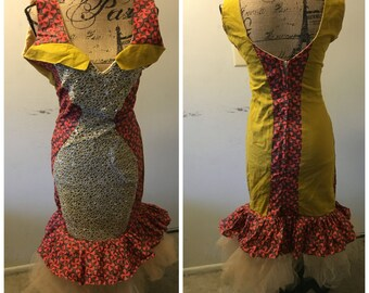 Two tonned fitted dress