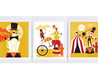 Circus Print Set of 3