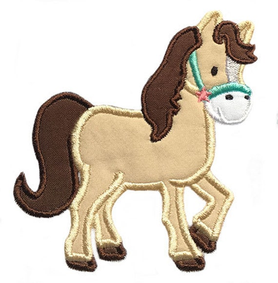 Horse Applique Embroidery Design- Instant Download From