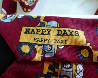 """HAPPY DAYS TIE!!!!! A Beans Mc Gee Tie.  A  very Fun and """"Happy"""" Tie. Vintage Tie"""