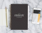 Financial Planner – 12-month Fill-in the Date Planner for saving, budgeting and planning ahead (Black)