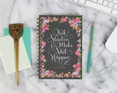 """2016 Weekly Planner """"Quit Slackin' and Make Sh*t Happen"""" with monthly spreads, back pocket, stickers, adhesive tabs and more"""