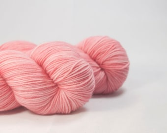 Hand Dyed Merino / Nylon Sock Yarn Pink