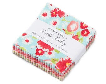 AVAILABLE NOW - Moda Little Ruby Mini Charm Pack by Bonnie & Camille