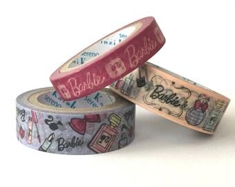 Washi - Barbie (Set of 3, Pink & Purple) Tape