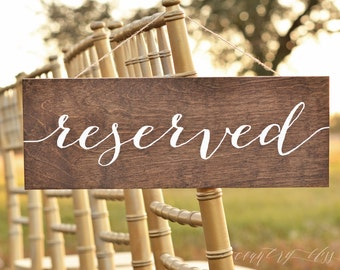 Reserved Sign, Reserved Wedding Sign, Reserved table sign, reserved sign wedding, Reserved Signs for Wedding, reserved chair sign, seating