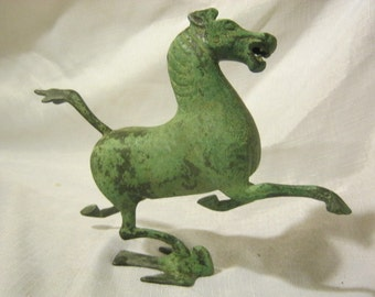 Chinese Bronze Statue of Galloping  Horse Treading on Swallow known as Galloping Horse of Gansu