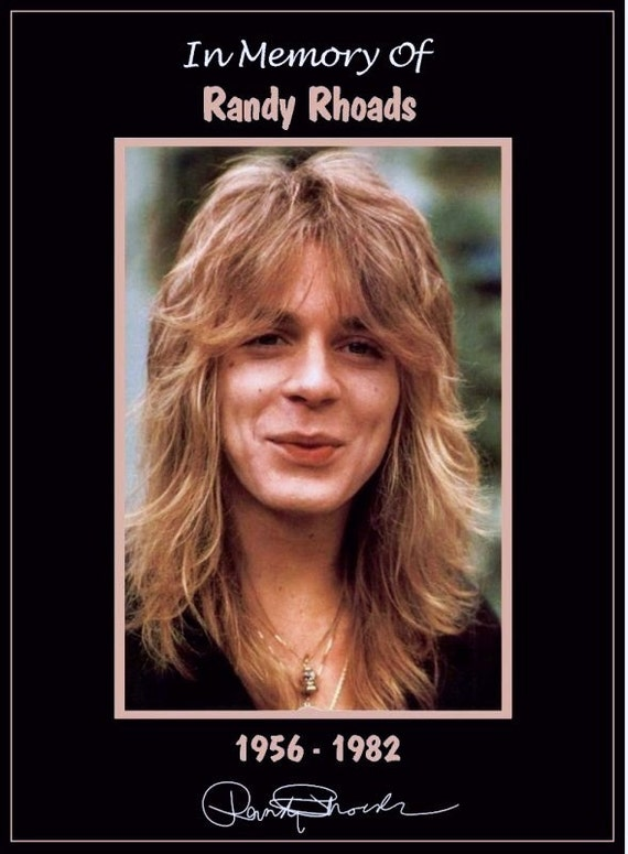 Ozzy / Randy Rhoads Memorial Tribute Stand-Up Display - Collectibles Collection Rock Music Memorabilia Heavy Metal Gift Idea kiss76