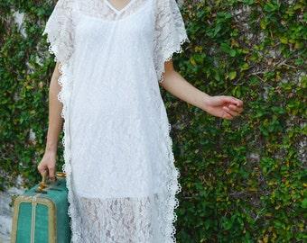maxi dress boho upcycled