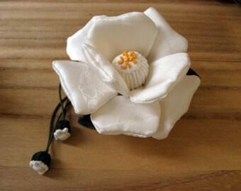 Gorgeous  Flower Ornament #3,,Chirimen Zaiku,Japanese  Kimono Fabric