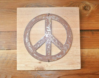 Peace Sign - Reclaimed Wood