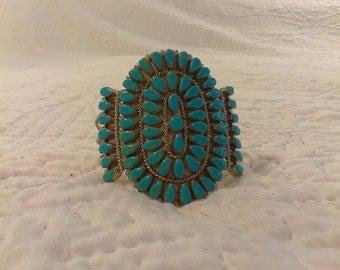 Turquoise Cuff Bracelet Navajo
