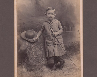 Cabinet Card of a Fashionable Young Man with a Whip