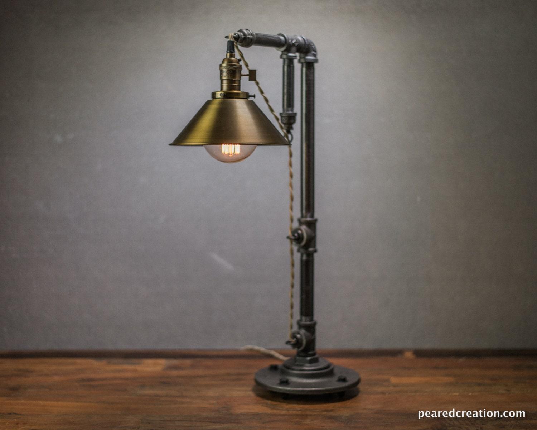Industrial table lamp edison bulb lamp table lamp for Light bulb table lamp