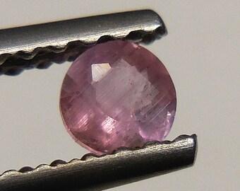 PEZZOTTAITE (Raspberry Beryl)  very rare  0.12ct / 3.14mm