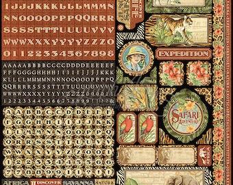 """Sale - Graphic 45 """"Safari Adventure Sticker"""""""