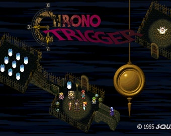 Video Game Art - Chrono Trigger - Digital Art Print - Super Nintendo Tribute