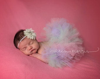 Summer spring tutu set, mint lavender and pink tutu set, newborn tutu, baby tutu, cake smash tutu set, tutu set,