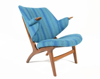 Danish Mid Century Modern Carl Edward Matthes Model 33A Lounge Chair