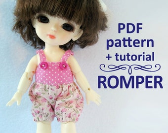 PDF pattern tutorial Romper for Lati yellow / PukiFee bjd