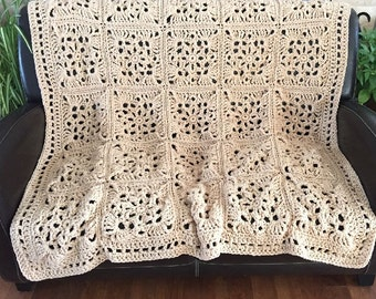 Crochet afghan crochet blanket Victorian wedding romantic victorian bedspread crochet bedspread, READY TO SHIP