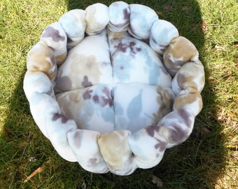 Cat bed, pet bed, dog bed, pastel pet bed, deep bed, round bed, cup bed, kitty bed,kitten bed, puppy bed, machine washable, small dog bed