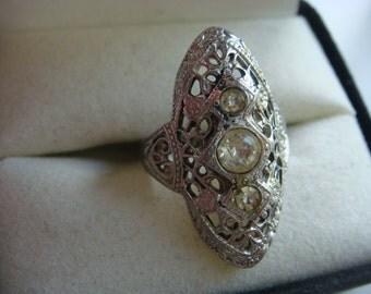 Vintage UNCAS Art Nouveau Ring