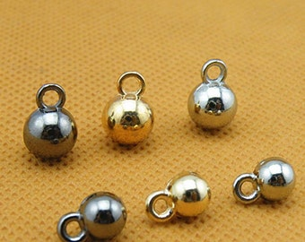 10 pcs 0.24~0.31 inch Small Rose Gold/Silver White/Gun Black Ball Metal Shank Buttons for Shirts Sweaters Cardigans