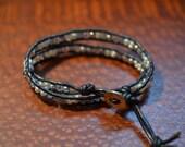 SALE Freshwater Pearl Double Wrap Bracelet