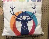 Hipster deer head pillow