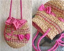 Vintage Cute Straw  Bag