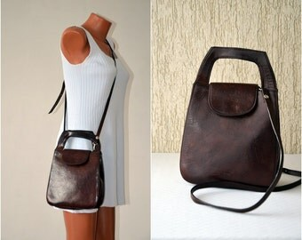 Vintage Handmade Genuine Leather Bag