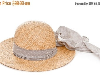 Summer Sale 10% Off Summer Straw Hat , Sun hat , womens Summer Hat , Jean