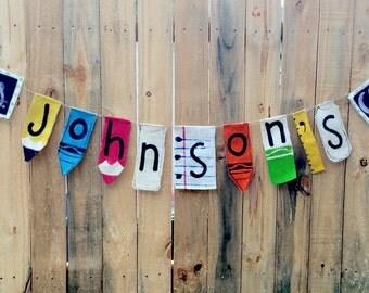 Elementary teacher gift Custom Teacher's Whimsical Banner Classroom Decor