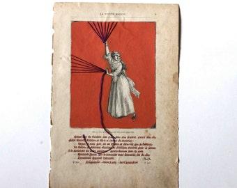 La petite Mionne - réécrire l'histoire - la femme qui vole