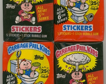 Garbage Pail Kids Packs 1986 Series 5 and 6 (lot of 4)