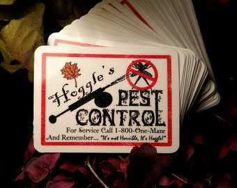 Labyrinth inspired Hoggles pest control ad.
