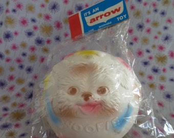 Edward Mobley, Arrow Rubber and Plastics, Mittens/ Woofie Ball, color, in original packaging, squeak toy