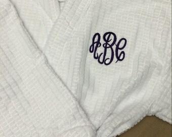 Waffle Weave Robe - Microfiber Waffle Weave Terry Kimono Robes - Kimono Robe - Bridal Party Robes - Bridesmaid Robes - White Robes