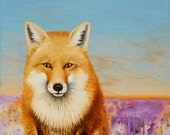 Red Fox Art Print from an original painting By Jennifer Barrineau ready to frame