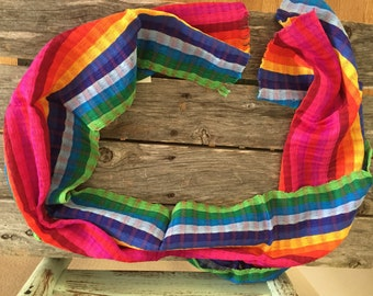 Mexican Handmade Loomed Scarf / Table runner or decor