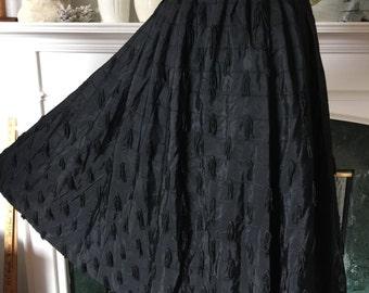 50s Black Tassled Party Skirt