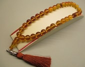 Amber Islamic Prayer Worry Beads 26.73 Gr Round Cognac Light Perfect Color Handmade #207